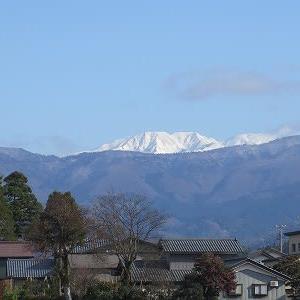 霊峰「白山頂上ようやく冬山の様相」。