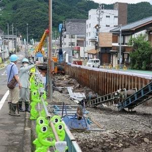 幕藩時代の「町屋遺構・遺物見学会」参加、福井県勝山市。