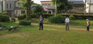 私の所属「元禄老友会」、今年の初行事「早朝ラジオ体操」開始。