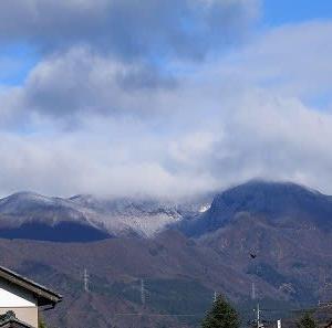 今日の冷え込み今年最低かも「大日岳など冠雪」。