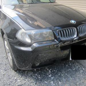 BMW X3 スカイルーフ在りの天張り、サンルーフボード張替え