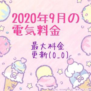 【高っ】2020年9月の電気料金(O_O)
