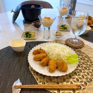 海の絶品炊き込みご飯とカキフライ