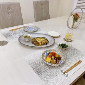 和韓中の野菜たっぷりヘルシーご飯と囲われたまめピー
