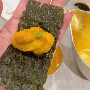 塩水ウニの一番美味しかった食べ方とナマコ、こごみ、クラブクロウ