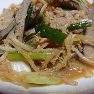 レバニラ炒め+マグロ漬け丼