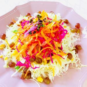 愛されレシピ♪ Francfrancのお皿にぶどうサラダ♥
