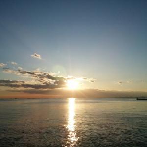 幕張の浜の夕焼け