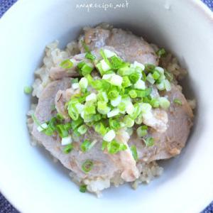 豚肉の味噌和え丼