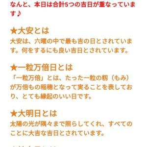 【2018年7月8日】大安・一粒万倍日・大明日・神吉日・母倉日の5つが重なる大ラッキーデー!