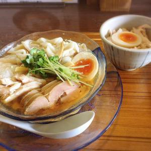 『冷やしワンタン麺』&『鶏塩めし』|らーめん三福