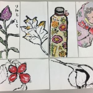 花水木絵手紙 いろいろが楽しい ♪♪