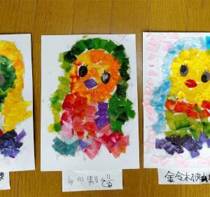 貼り絵教室 狛江市みんなの広場『若葉』 ★【タコ日記】ブルブル