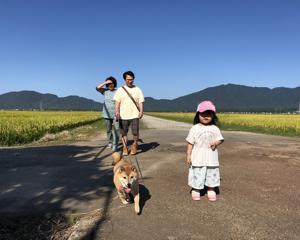 田舎で過ごしました