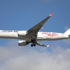 JAL A350が一色・二色・三色
