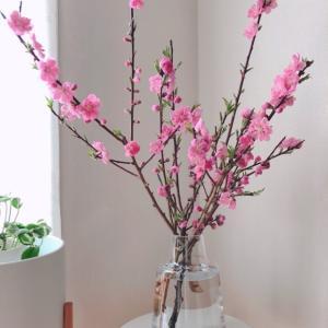 ホルムガードのフローラに春の枝物。ユニクロフラワーのこと。