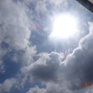 天気予報は100%雨も現在は青空 大谷翔平に38号HRの予感