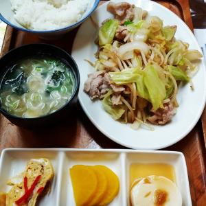 #野菜不足解消#千富食堂#肉やさい炒め定食  #700円 #旨い #最近野菜炒めにハマる