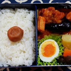 鶏肉となすのチリ炒め/お弁当