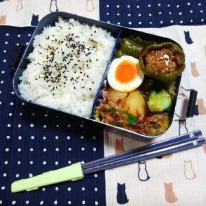 ピーマンの肉詰め照り焼き/お弁当