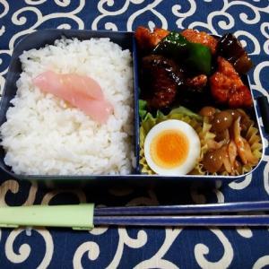 鶏肉となすの炒めもの/お弁当