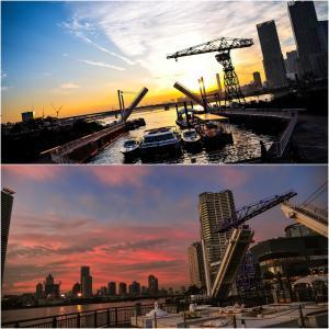 Dockが夕陽に染まる時。