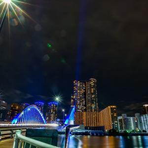 青い光は感謝の灯り。