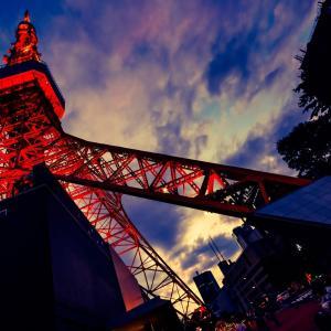 東京タワーと一枚の葉書。