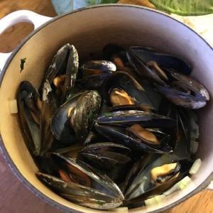 ベルギー風ムール貝のワイン蒸し