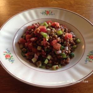 夏の終わりのレンズ豆のサラダ