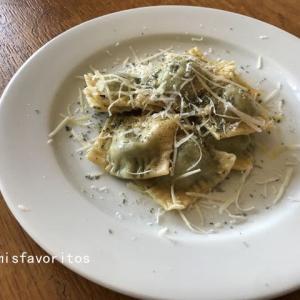 リコッタチーズとほうれん草のラビオリ