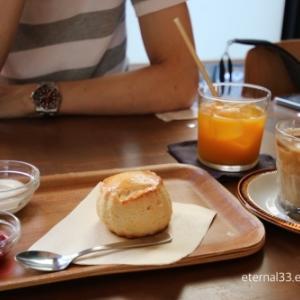 *カフェと夕焼け撮影*