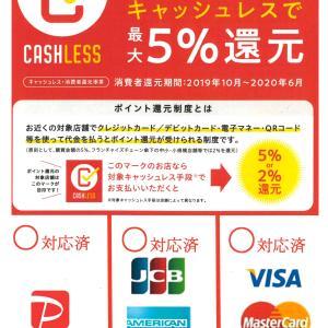 クレジットカード5%還元本日まで