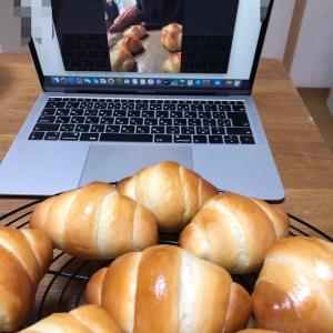 zoomでオンラインパン作り大会。