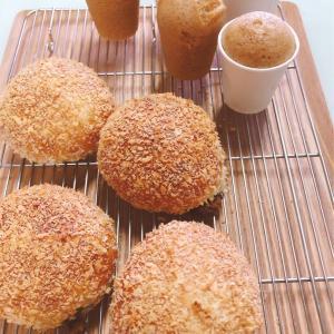 6/7 zoomオンラインレッスンレポ(^^) 焼きカレーパン&黒糖蒸しパン。