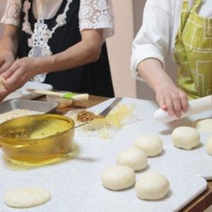 6/9 レッスンレポ(^^) 焼きカレーパン&黒糖蒸しパン。
