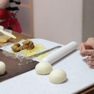 6/21 pm レッスンレポ(^^) 焼きカレーパン&黒糖蒸しパン。