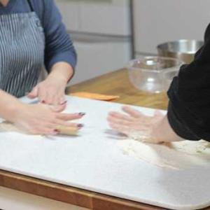 11/25 レッスンレポ(^^) スノーフレークパン&きんぴらごぼうパン。