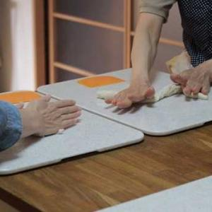 6/6  am レッスンレポ(^^) 枝豆パン&メープルナッツリング。