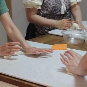 6/6  pm レッスンレポ(^^) 枝豆パン&メープルナッツリング。