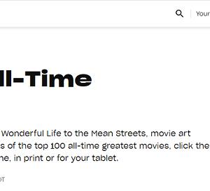 『映画オールタイム・ベスト100』雑誌「エンターテインメント・ウィークリー」発表!/2013年6月発表の史上最高のベスト100