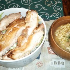 妻が忘年会なので、夕食は高橋の若どりのテリヤキ丼・・・・薪スト31