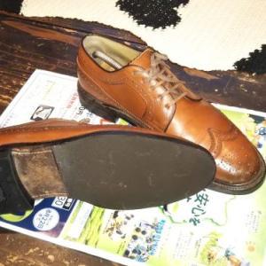 リーガルウィングチップ 靴底交換