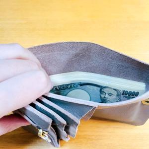 財布に50万円を入れてみた。