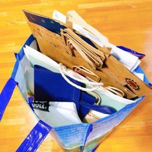 紙袋は、このくらい持っています。