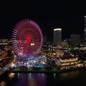 横浜STAY ホテルでの夜景から朝焼けへ