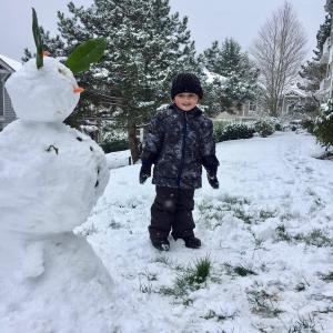 さっそく雪の日:シアトル