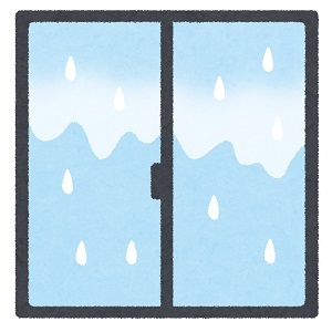 結露水を排出できない縦滑り窓1