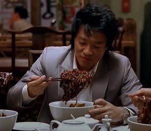 固まったチャジャン麺