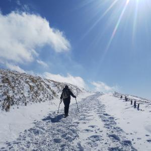 車山高原でスノーシュー